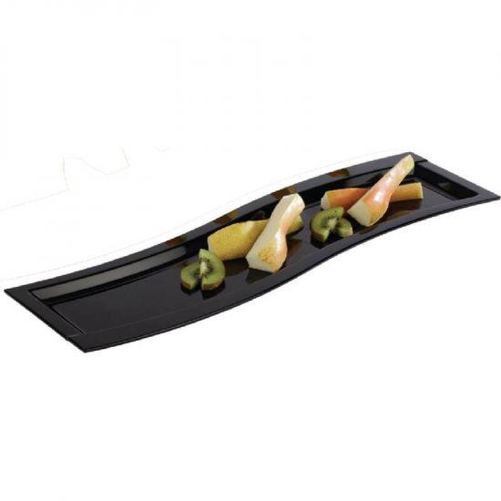 APS Wave Melamine Platter Black GN 2/4 URO GK829