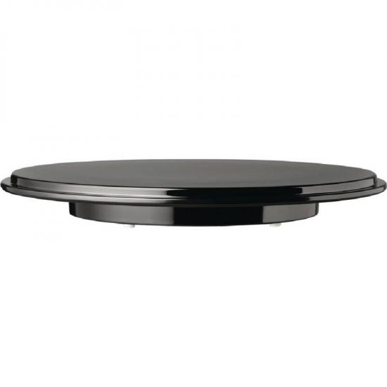 APS Pure Round Cake Platter Melamine Black URO GK858