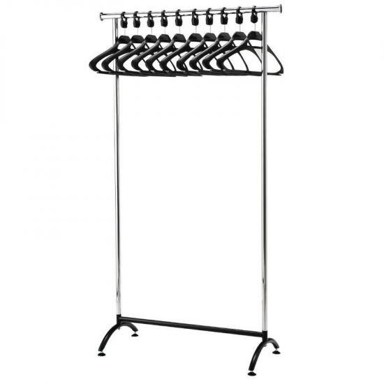 Chrome Coat Rack With 10 Polypropylene Hangers URO GK914