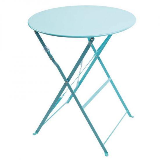 Bolero Seaside Blue Pavement Style Steel Table 595mm URO GK983