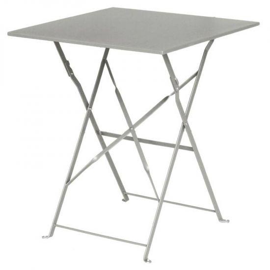 Bolero Grey Pavement Style Steel Table Square 600mm URO GK988