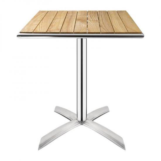 Bolero Flip Top Bistro Table Square Ash 600mm URO GK991