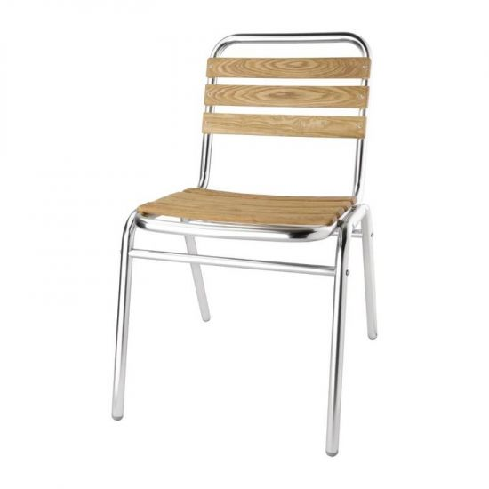 Bolero Aluminium And Ash Bistro Sidechair (Pack Of 4) URO GK997