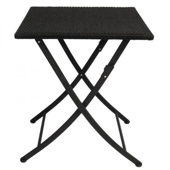 Bolero PE Wicker Folding Table Square 600mm URO GL302