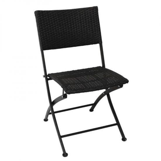 Bolero PE Wicker Folding Chairs (Pack Of 2) URO GL303