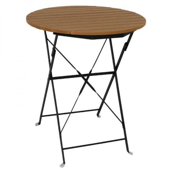 Bolero Round Faux Wood Bistro Table 600mm URO GL496
