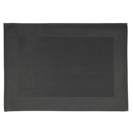 APS PVC Placemat Fine Band Frame Black URO GL610