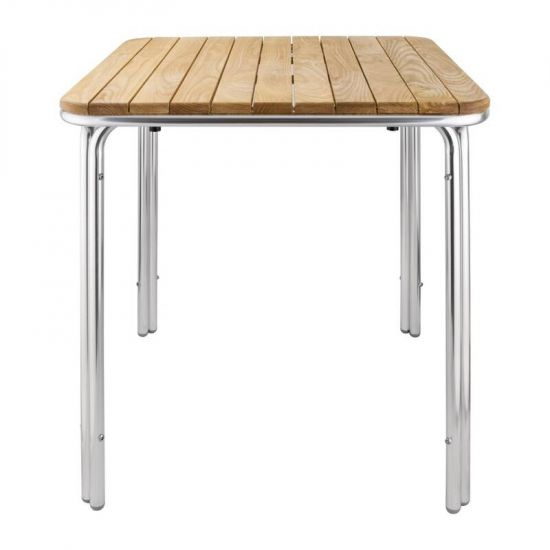 Bolero Square Ash And Aluminium Table 700mm URO GL982