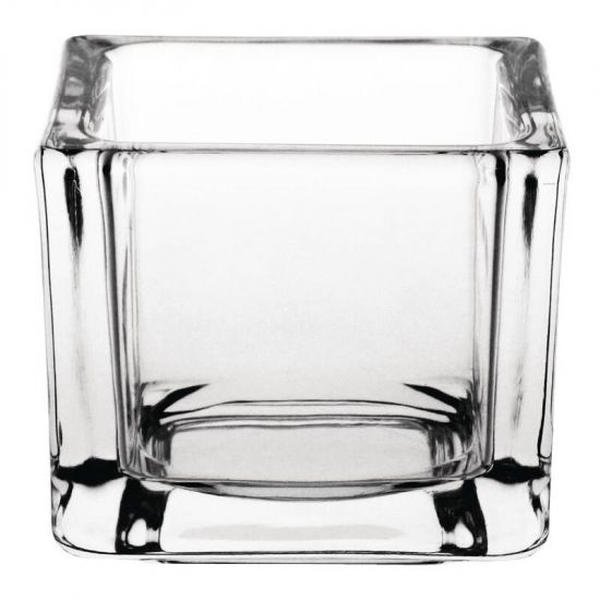 Olympia Glass Tealight Holder Square Clear Box of 6 URO GM224