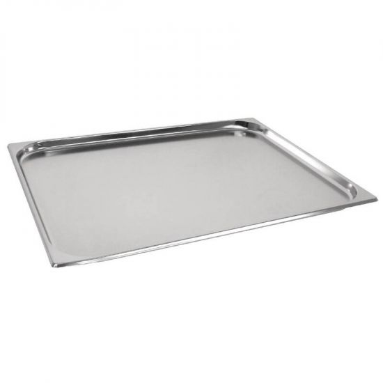 Vogue Stainless Steel GN 2/1 Double Size Gastronorm Pan 20mm URO GM316