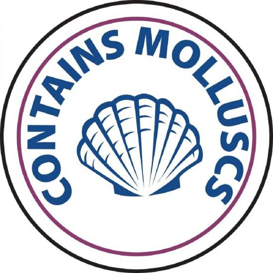 Vogue Food Allergen Label Molluscs URO GM812