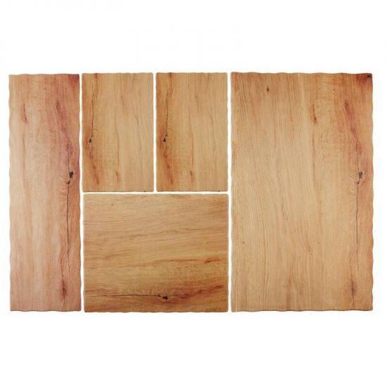 APS Oak Effect Melamine Tray 1/4GN URO GN567