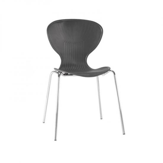 Bolero Black Stacking Plastic Side Chairs (Pack Of 4) URO GP500