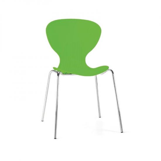 Bolero Lime Stacking Plastic Side Chairs (Pack Of 4) URO GP503