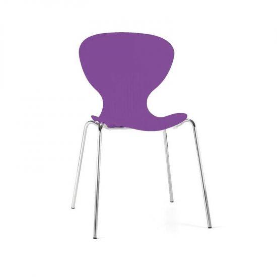 Bolero Purple Stacking Plastic Side Chairs (Pack Of 4) URO GP504