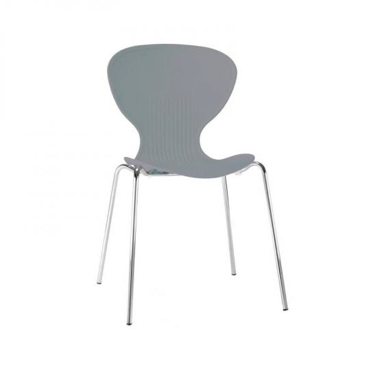 Bolero Grey Stacking Plastic Side Chairs (Pack Of 4) URO GP506