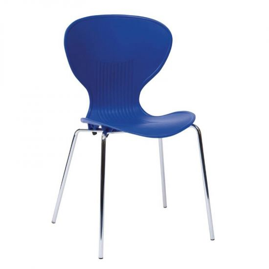 Bolero Blue Stacking Plastic Side Chairs (Pack Of 4) URO GP507