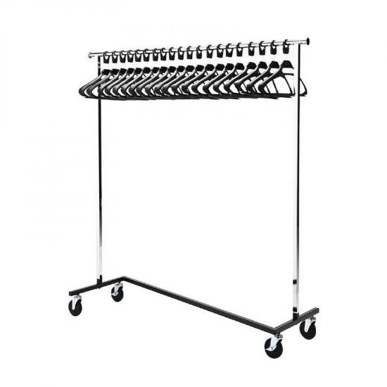 Bolero Garment Rail With 20 Hangers URO GR301