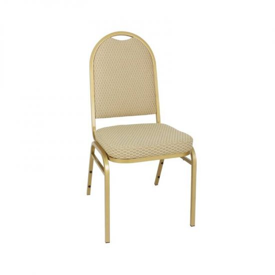 Bolero Steel Banqueting Chair With Neutral Cloth (Pack Of 4) URO GR360