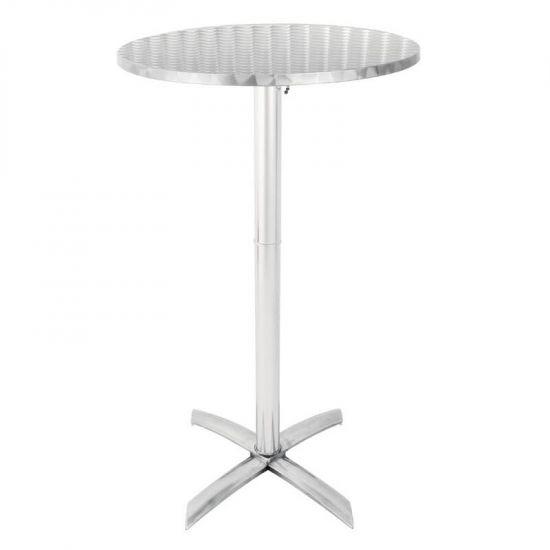Bolero Flip Top Poseur Table Stainless Steel URO GR396
