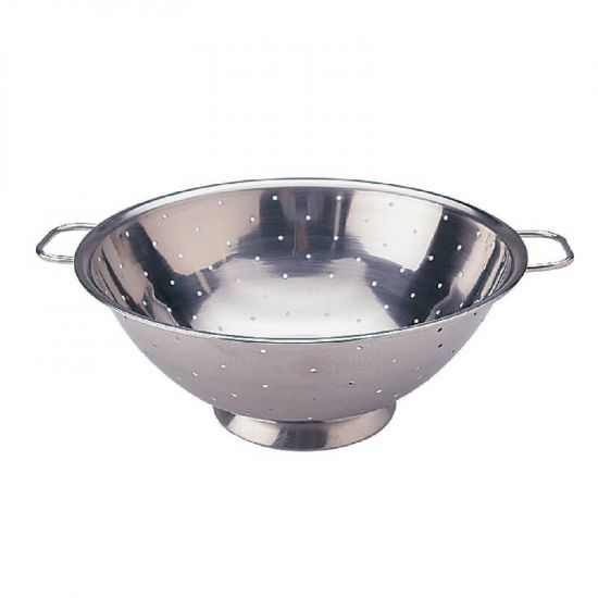 Vogue Stainless Steel Colander 14in URO K349