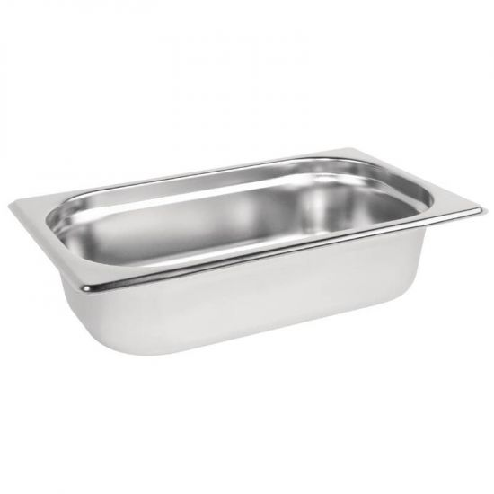 Vogue Stainless Steel 1/4 Gastronorm Pan 65mm URO K818