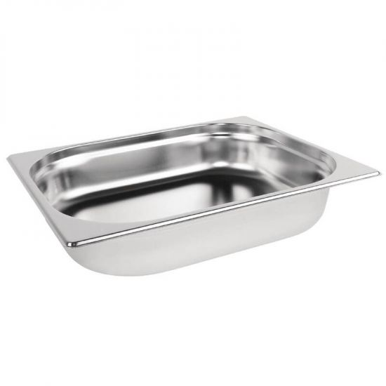 Vogue Stainless Steel 1/2 Gastronorm Pan 65mm URO K927