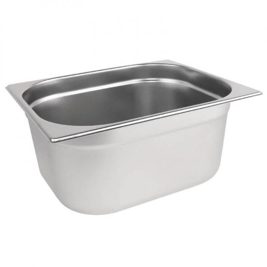 Vogue Stainless Steel 1/2 Gastronorm Pan 150mm URO K930