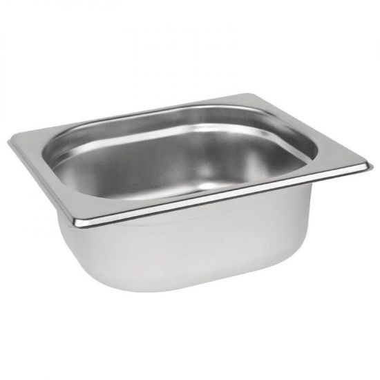 Vogue Stainless Steel 1/6 Gastronorm Pan 65mm URO K985