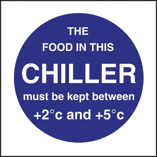 Vogue Food In This Chiller Sign URO L838