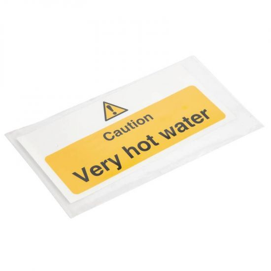 Vogue Caution Very Hot Water Sign URO L849