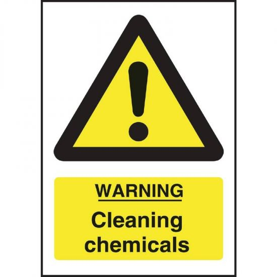 Warning Cleaning Chemicals Sign URO L851