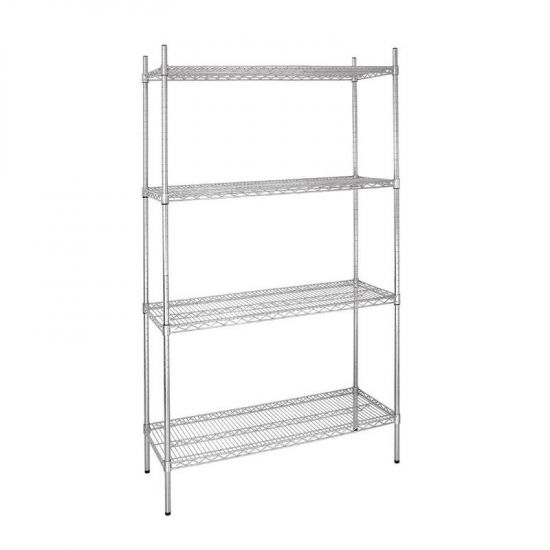 Vogue 4 Tier Wire Shelving Kit 915x460mm URO L927