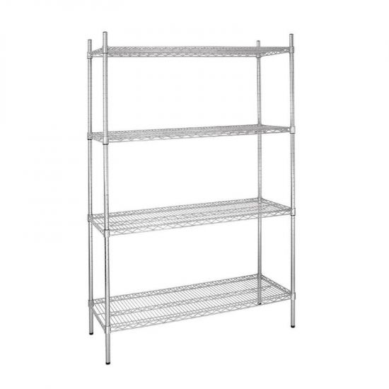 Vogue 4 Tier Wire Shelving Kit 1220x460mm URO L928