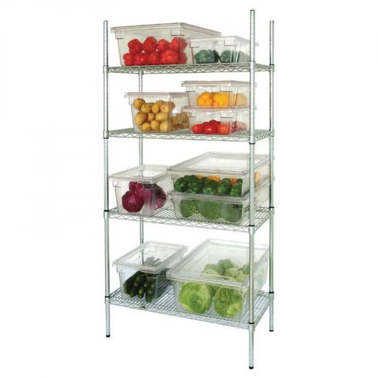 Vogue 4 Tier Wire Shelving Kit 1830x460mm URO L939
