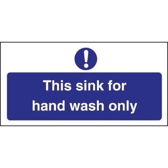 Vogue Hand Wash Only Sign URO L952