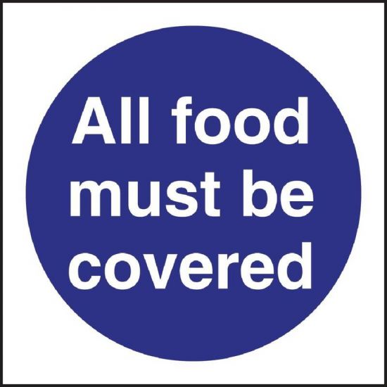 Vogue All Food Must Be Covered Sign URO L953