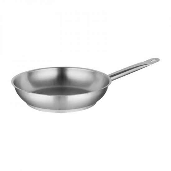 Vogue Stainless Steel Induction Frying Pan 240mm URO M925