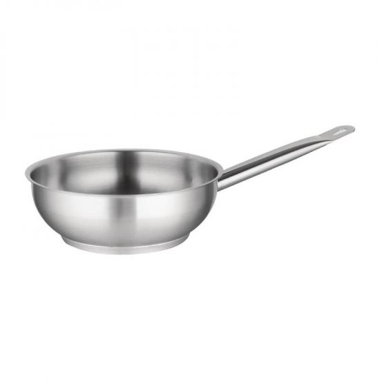 Vogue Stainless Steel Saute Pan 200mm URO M947