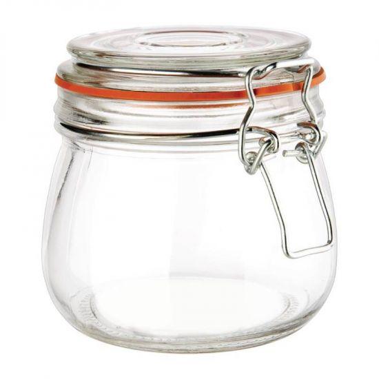 Vogue Clip Top Preserve Jar 500ml URO P490