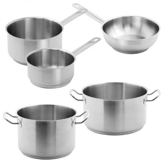 Special Offer - 5 Vogue Pack Of Casserole, Stew And Saute Pans URO S121