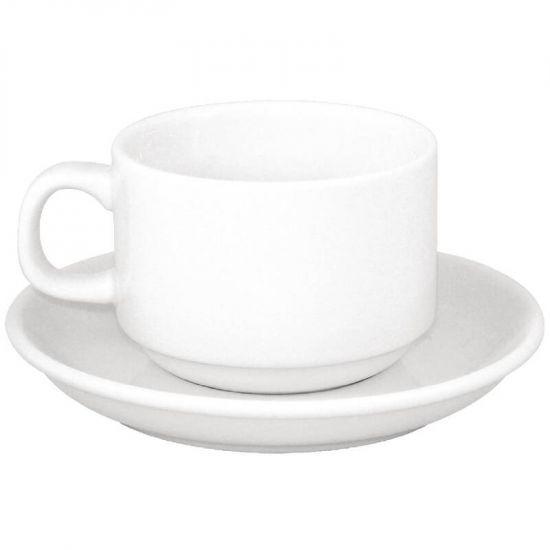 SPECIAL OFFER Athena Stacking Tea Cup And Saucer Combo Box of 24 URO S376