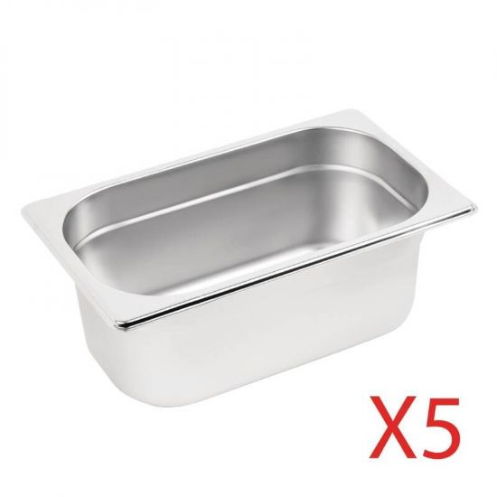Vogue Gastronorm Container Kit 5 X 1/4 URO S407