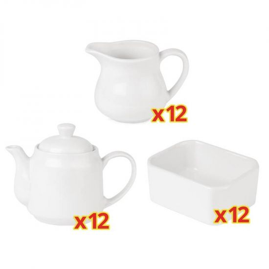 Special Offer 12 Sets Of 3 Piece Athena Tea Service (CC204) (U819) (CC205) !2 Sets URO S709