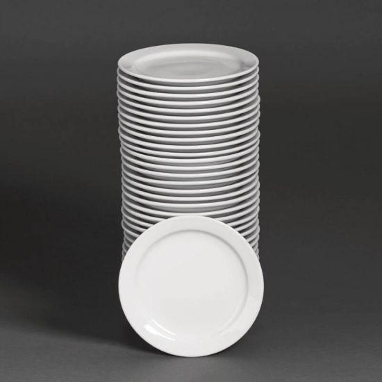 Bulk Buy Pack Of 36 Athena Narrow Rimmed Plates (CF360) URO S751