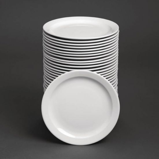 Bulk Buy Pack Of 36 Athena Narrow Rimmed Plates 284mm (CF365) URO S755