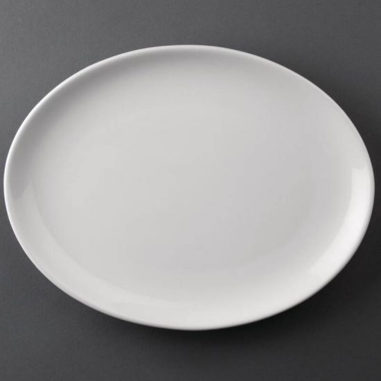 Bulk Buy Pack Of 24 Athena Hotelware Oval Coupe Plates 305 X 241mm (CC212) URO S757