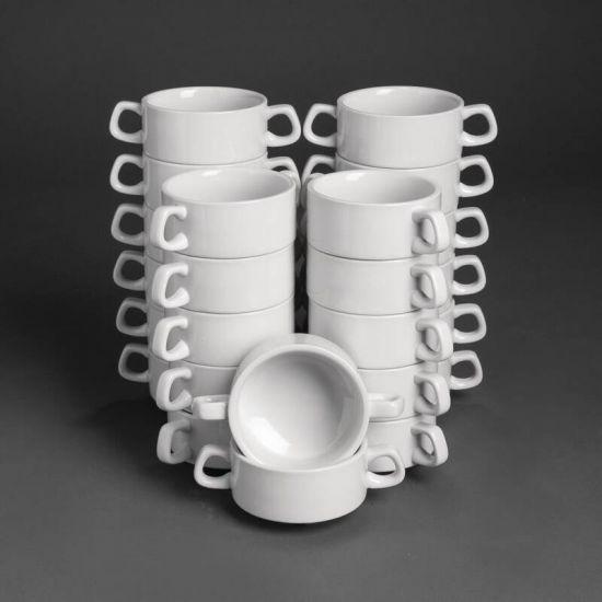 Bulk Buy Pack Of 24 Athena Stacking Soup Bowls (CF369) URO S758