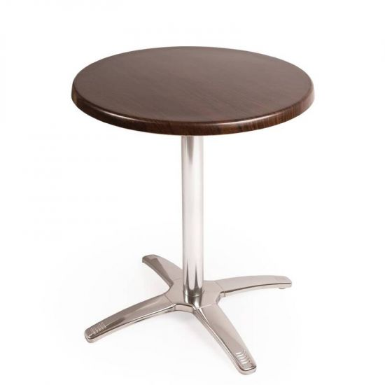 Special Offer Bolero Round Dark Brown Table Top And Base Combo URO SA223