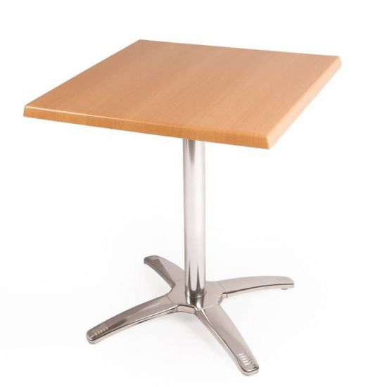 Special Offer Bolero Square Beech Table Top And Base Combo URO SA224